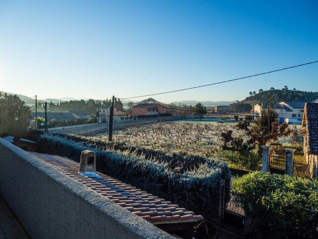 A frosty morning from the balcony outside our bedroom
