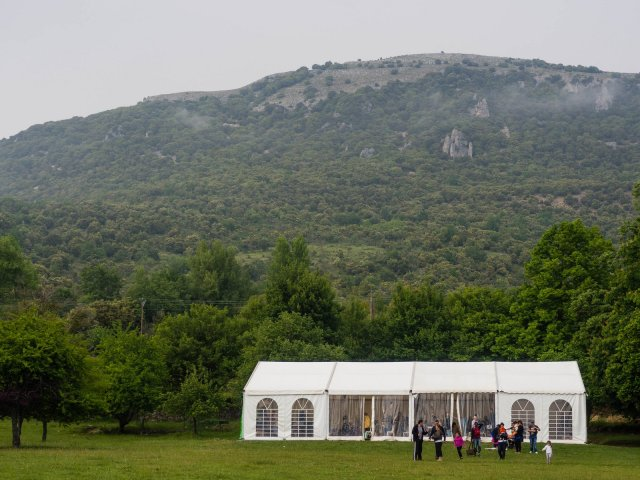 Two events which were planned for outside were moved to the marquee because of the weather