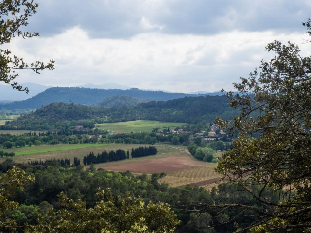 From the viewpoint above Taradeau showing the area we live in
