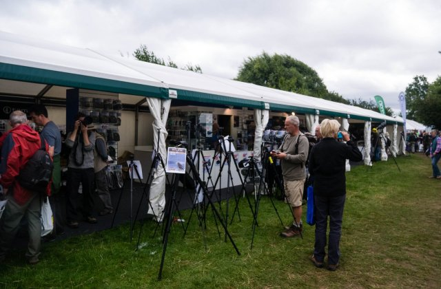 Expensive cameras and binoculars, even at discounted show prices
