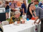 Celebrity birdwatcher: Bill Oddie signs a book