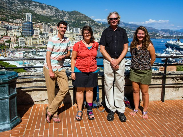 The team in Monaco: Benjo, Doro, Bob and Aline