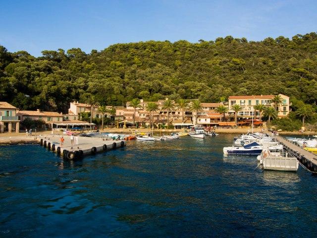 Port Cros: the harbour
