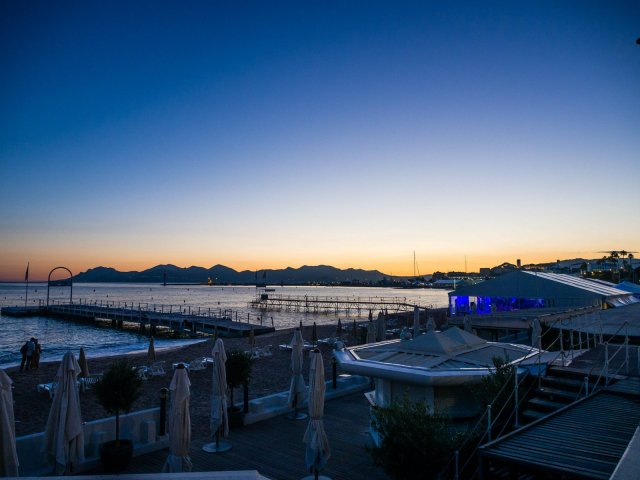Calm after the storm: the Bay of Cannes on Wednesday evening