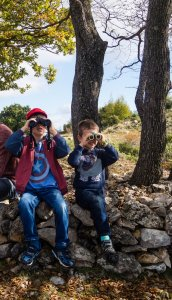 Budding naturalists at Courmettes
