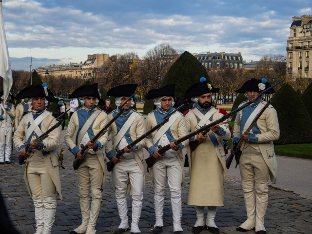Not a special security detachment but part of the celebration of the Fête de la Sainte-Barbe at Les Invalides.