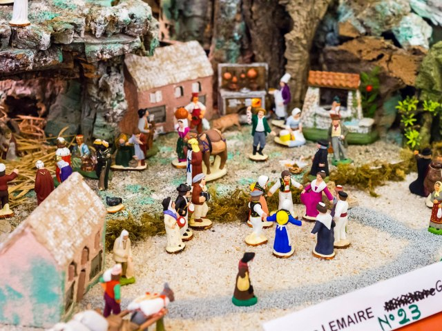 Santon Scene in French Nativity Scene