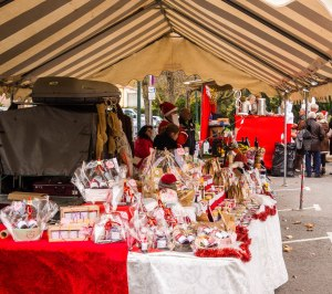 French Traditional Christmas market in Taradeau