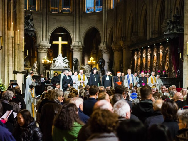 Ecumenical service at Notre Dame