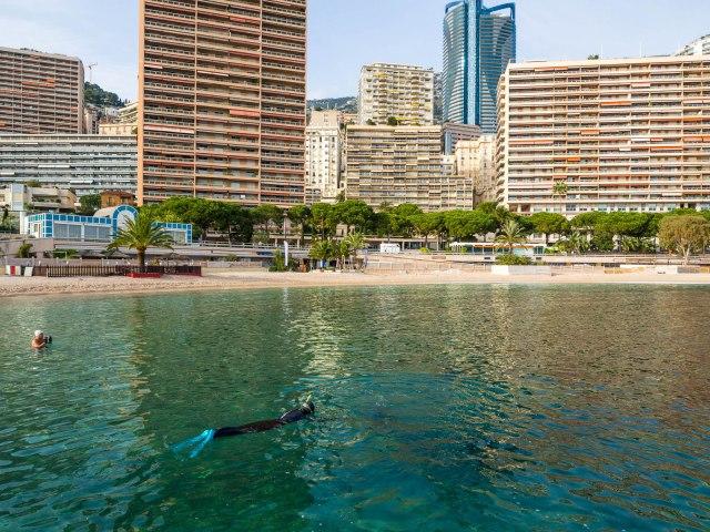 Snorkelling off Monaco