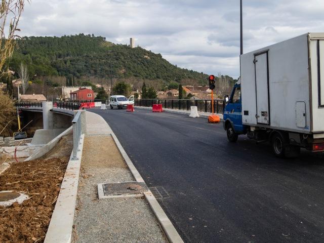 traffic on the new bridge