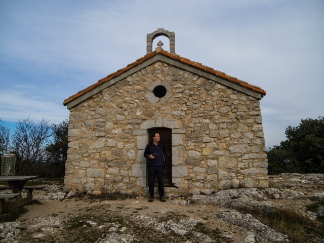The Chapel of the Annunciation outside the village. Even if the door had been unlocked, Chris would have found it hard to enter!