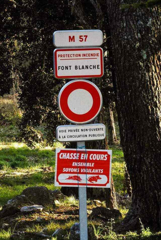 Many roads in the wooded parts of Var are closed to traffic because of fire risks: in summer they may be closed to pedestrians too. Note another hazard: is your prospective house near a place where there will be frequent hunting in season?