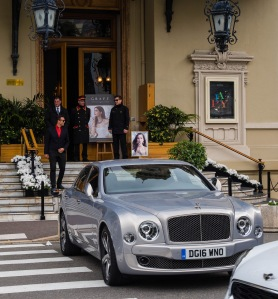 Outside the famous Monte Carlo casino