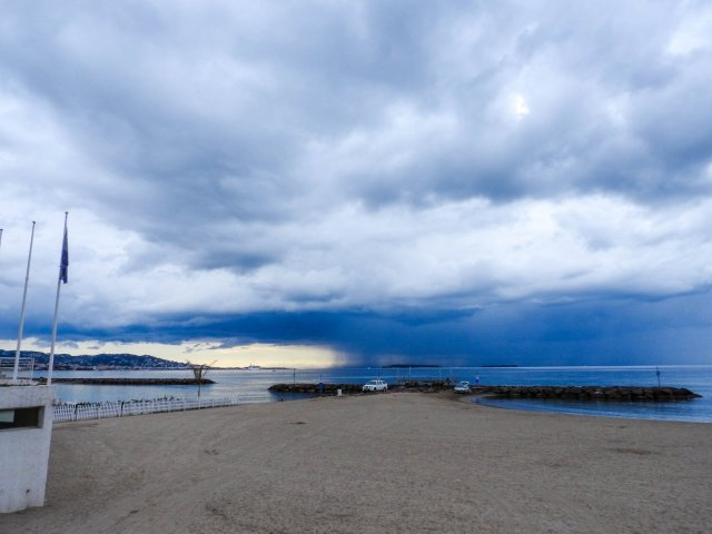 Stormy skies over Cannes bay a few weeks ago