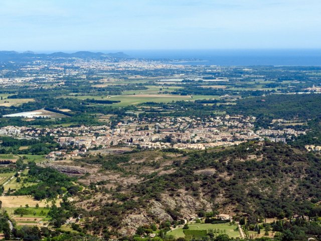 From the top you can see to St Raphael on the coast.