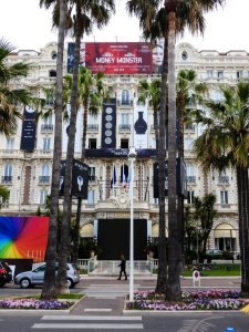 You can tell it's film festival time when the Carlton Hotel becomes plastered with advertisements