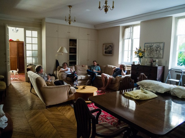 The chaplain's apartment in Monaco: note the pillows on the table; three people slept in this room!