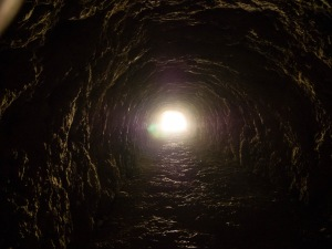 The tunnels were originally for a hydro-electric project.