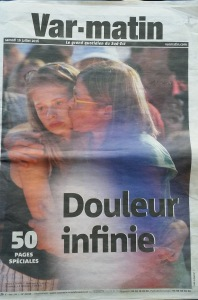 """Infinite sadness"" was the headline on our local paper's Saturday edition"