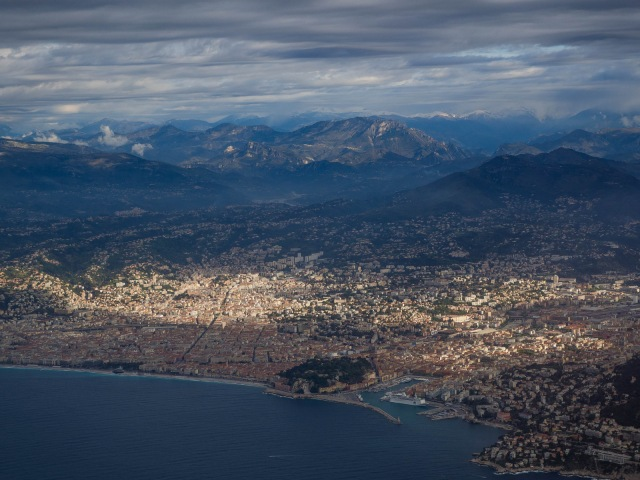 Nice from the air: you can see the harbour and the seafront
