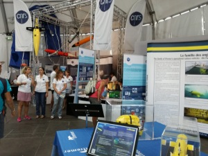 The science dome with lots of submersibles for exploring the Mediterranean's floor