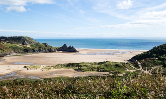 Gower in the sunshine: this is Three Cliffs Bay. The Med may be warmer, but Welsh sand is better!