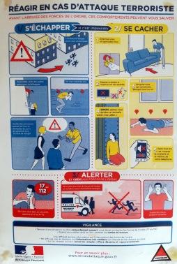 """""""Advice in case of a terrorist attack"""""""