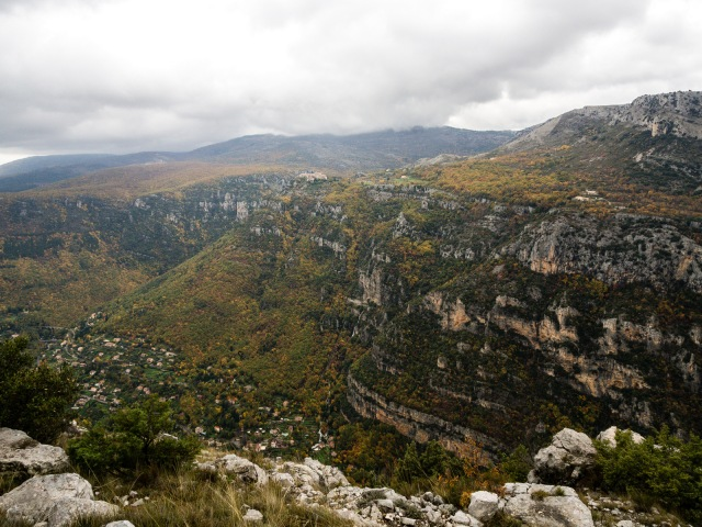 This picture was taken above the Gorge du Loup