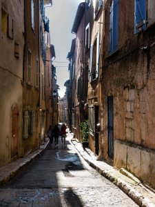 Street in the oldest part of Aups