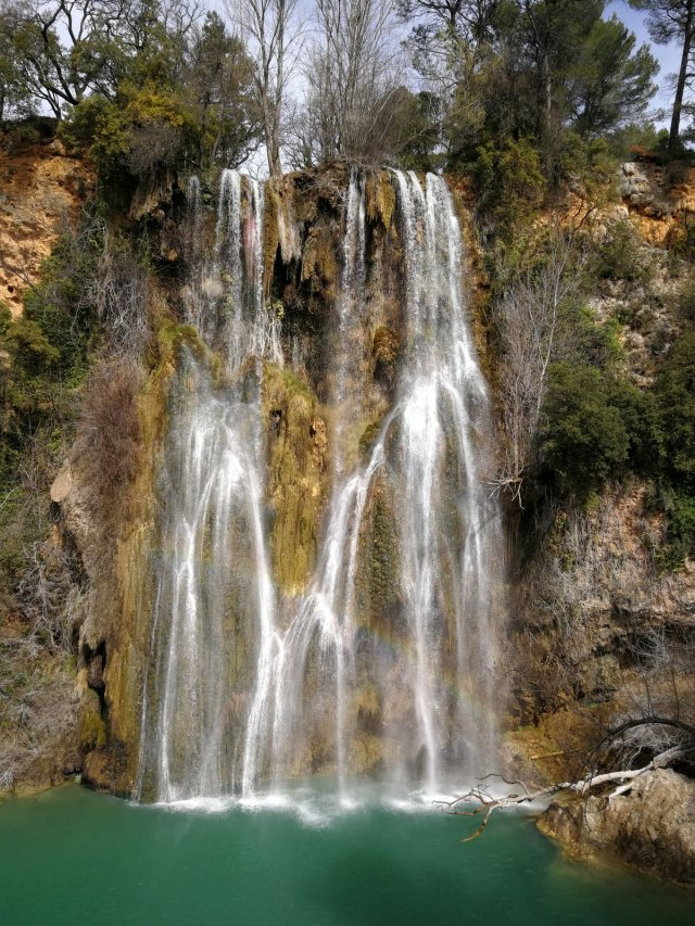 The waterfall at Sillans-la-Cascade