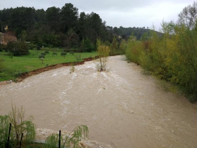 Florieye in flood from the Taradeau bridge