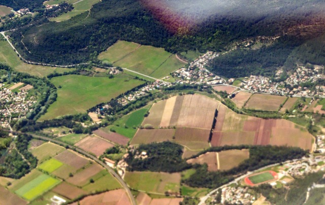 La Pouponne from the air
