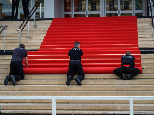 rolling out a red carpet at Cannes