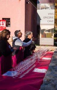 wine glasses at the fete du vin