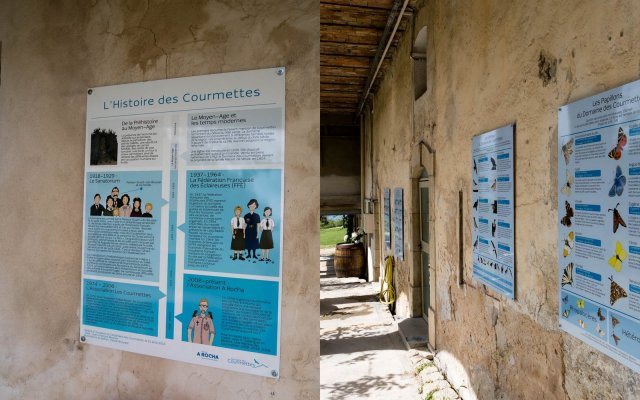 information panels at Courmettes